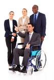 Azienda leader handicappata Fotografie Stock
