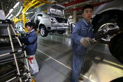 Azienda manifatturiera automobilistica cinese Fotografia Stock