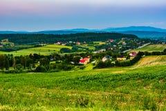 Aziende agricole e terreno coltivabile Fotografia Stock Libera da Diritti