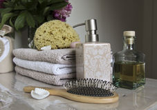 Łazienek akcesoria i pampering Fotografia Stock
