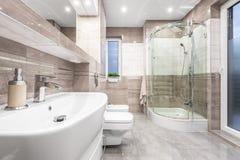 Łazienka z dotykiem luksus Zdjęcie Royalty Free