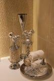 Łazienki dekoraci akcesorium Zdjęcie Royalty Free