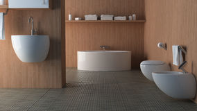 łazienki drewno Zdjęcia Stock