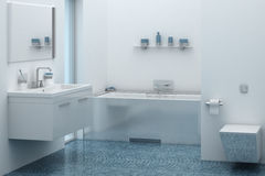 łazienki pucharu wnętrza ręcznik Obrazy Royalty Free