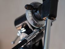 Azimuth mount closeup stock photos