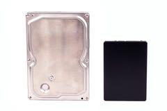 Azionamenti dello SSD e di HDD Fotografia Stock Libera da Diritti