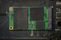 Azionamento ad alta velocità dello SSD sulla scheda madre Fotografia Stock