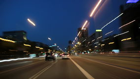 Azionamento Cameracar 3 della città di notte di Barcellona stock footage