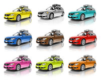 Azionamento contemporaneo dell'automobile dell'automobile che determina concetto del veicolo Fotografia Stock