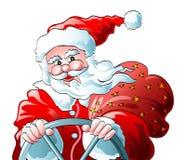 Azionamento del Babbo Natale illustrazione vettoriale