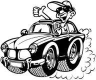 Azionamento del clipart di vettore del fumetto del camion o dell'automobile Fotografie Stock