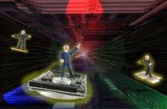 Azionamento del filo di ordito in universo di elettronica Fotografia Stock Libera da Diritti