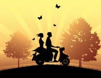 Azionamento del motociclo royalty illustrazione gratis