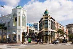 Azionamento del rodeo a Beverly Hills immagine stock
