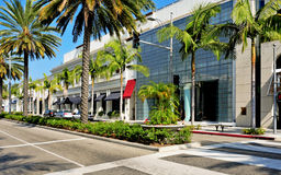 Azionamento del rodeo, Beverly Hills, Stati Uniti Immagini Stock