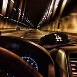 Azionamento del tunnel Arizona di I-10E fotografia stock