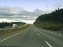 Azionamento dell'autostrada senza pedaggio Fotografia Stock