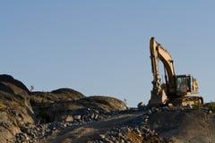 Azionamento dell'escavatore Fotografia Stock