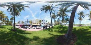 Azionamento dell'oceano di Miami Beach Immagini Stock