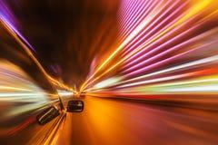 Azionamento della città di notte in macchina Immagini Stock Libere da Diritti