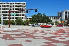 Azionamento della parte anteriore della baia di Sarasota Fotografie Stock