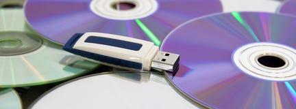 Azionamento della penna del USB di memoria Fotografia Stock
