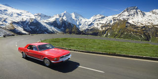 Azionamento di Alpen Fotografia Stock