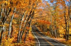 Azionamento di autunno Fotografie Stock