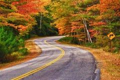 Azionamento di autunno in Nuova Inghilterra Fotografie Stock Libere da Diritti