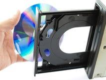 Azionamento di Dvd o del CD Immagini Stock Libere da Diritti
