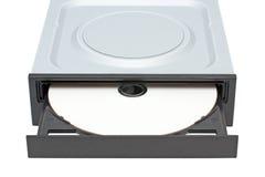 Azionamento di DVD-ROM con il disco Immagine Stock