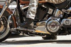 Azionamento di Harley Fotografia Stock