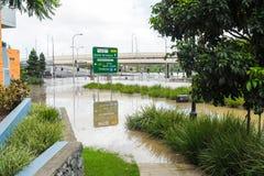 Azionamento di incoronazione durante l'inondazione di Brisbane Fotografia Stock