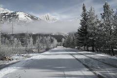 Azionamento di inverni Fotografie Stock
