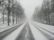 Azionamento di inverno Immagini Stock Libere da Diritti