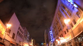 Azionamento di lasso di tempo di POV di Los Angeles del centro alla notte archivi video