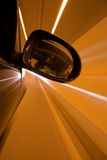 Azionamento di notte sull'automobile Fotografie Stock