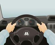Azionamento di un'automobile Illustrazione di vettore Immagini Stock