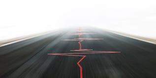 Azionamento di veicolo ad alta velocità sicuro astratto Immagini Stock