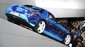 Azionamento elettrico del coupé di Mercedes-Benz SLS AMG Fotografia Stock