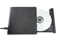 Azionamento esterno del portatile Cd/Dvd Fotografie Stock