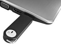 Azionamento isolato del USB in un computer portatile Fotografia Stock Libera da Diritti