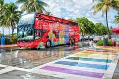 Azionamento Miami Beach dell'oceano Fotografia Stock Libera da Diritti