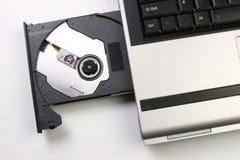 Azionamento ottico del computer portatile Fotografie Stock Libere da Diritti