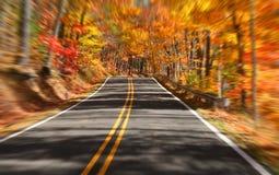 Azionamento scenico di autunno Fotografie Stock
