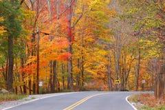 Azionamento scenico di autunno Fotografia Stock Libera da Diritti