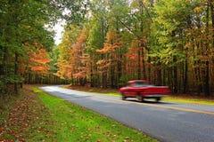 Azionamento scenico di autunno Fotografie Stock Libere da Diritti