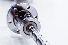 Azionatore lineare della palla-vite di alta precisione per la macchina di CNC Fotografia Stock