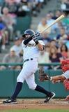 Azione 2012 di baseball della Lega Minore Fotografia Stock Libera da Diritti