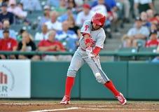 Azione 2012 di baseball della Lega Minore Fotografie Stock Libere da Diritti